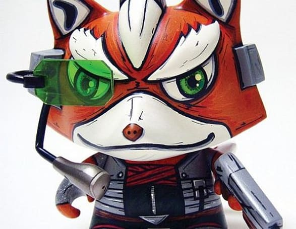 StarFox and Minecraft characters recreated in Munny form