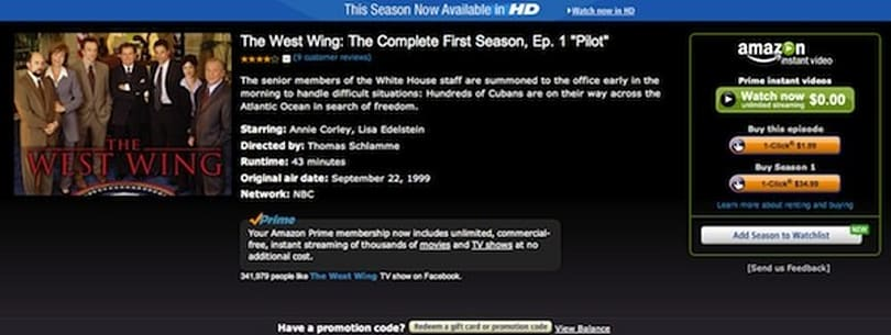 Amazon, Warner deal brings Fringe, The West Wing to Prime Instant Video exclusively