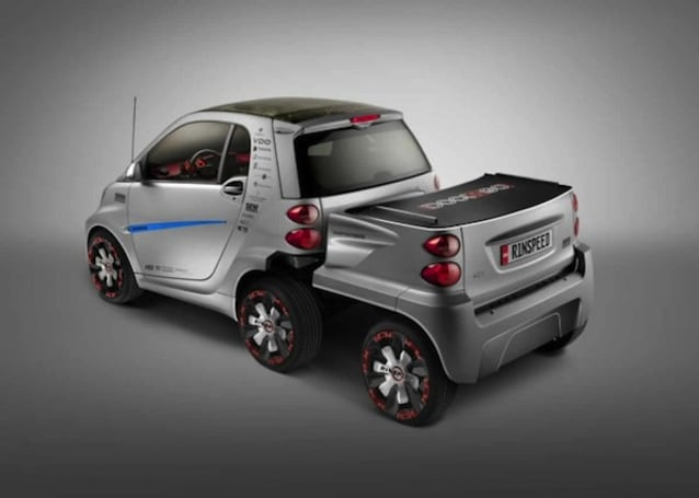 Rinspeed gives Smart Fortwo ED two extra wheels, more junk in the trunk
