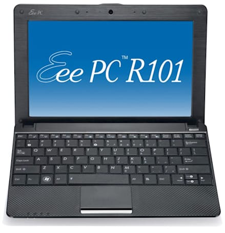 ASUS Eee PC R101 surfaces in Deutschland with Atom N450, carbon fiber flair