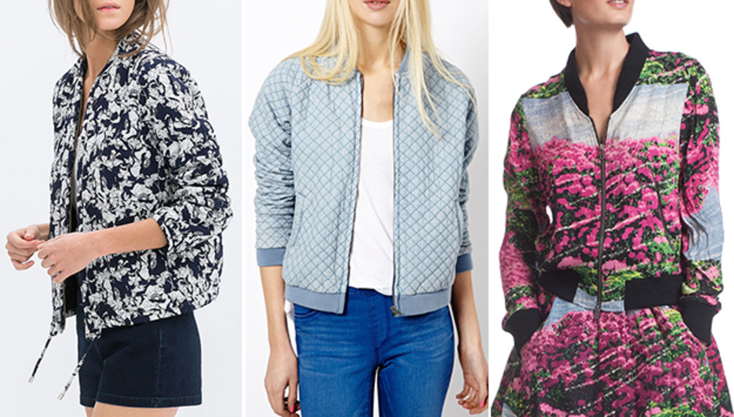 Pick up a ladylike bomber jacket for spring
