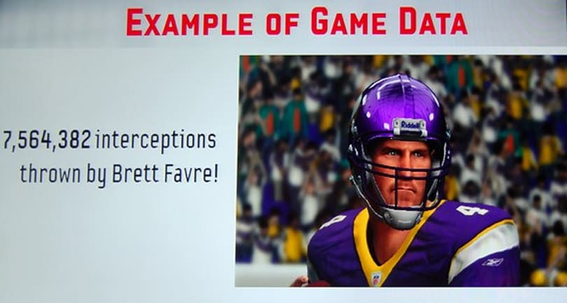 EA Sports mines your football data, and makes example out of Favre