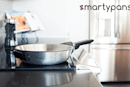 スマホと繋がるフライパンSmartyPans。0.5g単位で重量検知、リアルタイムに料理をガイド