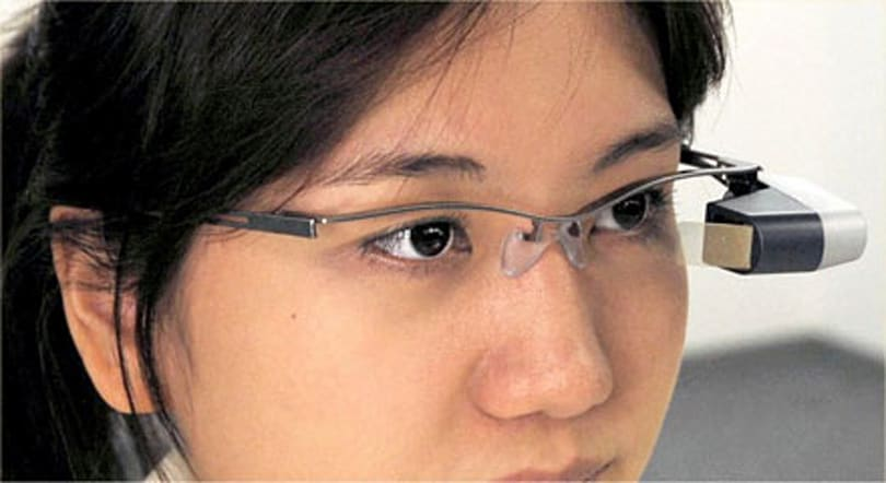 Brother Industries shows off eyeglass-mountable retina scanning display