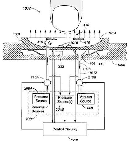 Apple patent application shows keyboard that doesn't require contact, blows air