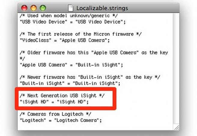 "Apple working on an ""iSight HD""?"