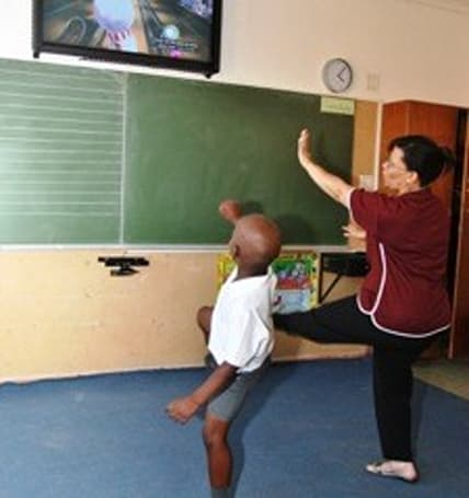 Kinect used to teach in South African primary school
