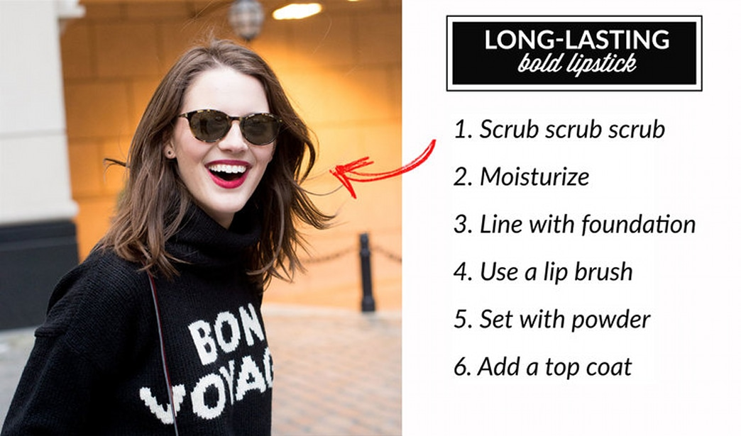 How to make bold lipstick stay in place