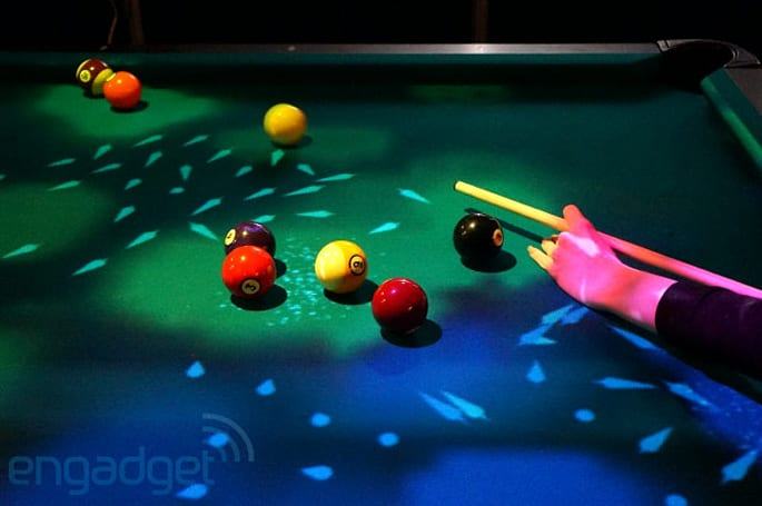 OpenPool transforms billiards with a Kinect camera-controlled light show
