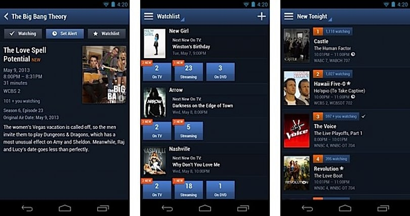 TV Guide redesigns mobile app for Android, catches up with iOS version