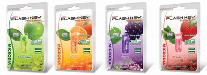 MICRODIA's Fruity USB flash drives: now in four great scents