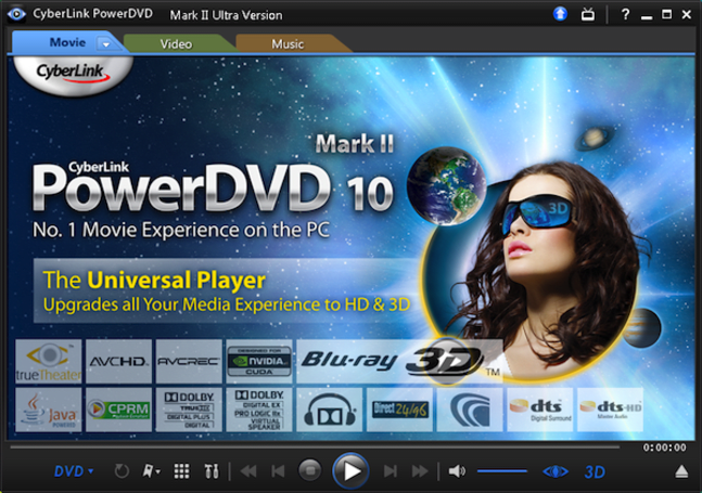 PowerDVD 10 Ultra 3D Mark II update finally adds 3D Blu-ray support