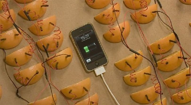 iPhone battery dead? In a squeeze you can charge it with Jaffa oranges