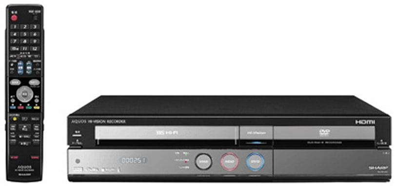 Sharp's AQUOS DV-ACV52 HD DVR handles DVD, HDV, and VHS