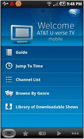 AT&T unleashes fully featured U-verse Mobile apps for Android, Blackberry platforms