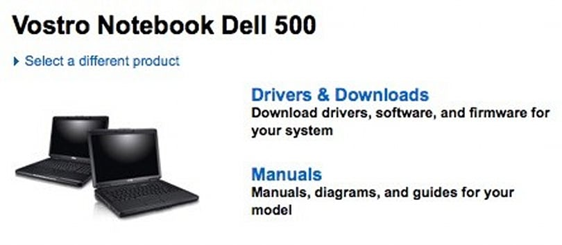 Vostro 500 appears on Dell's support site