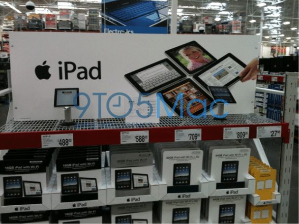 iPad on sale at some Sam's Club stores, stuffed in between the treehouses and turkeys