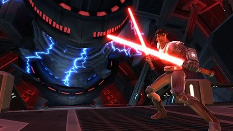 Star Wars: The Old Republic's Smuggler and Sith Warrior fight it out