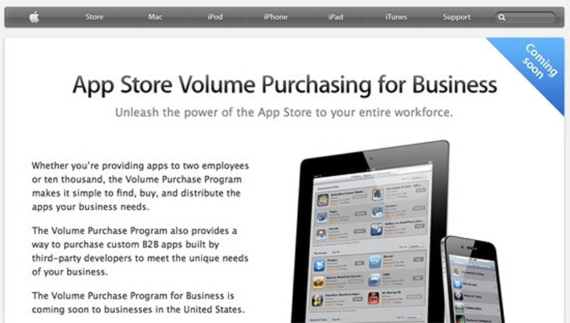 Apple intros App Store volume purchasing, businesses enthused