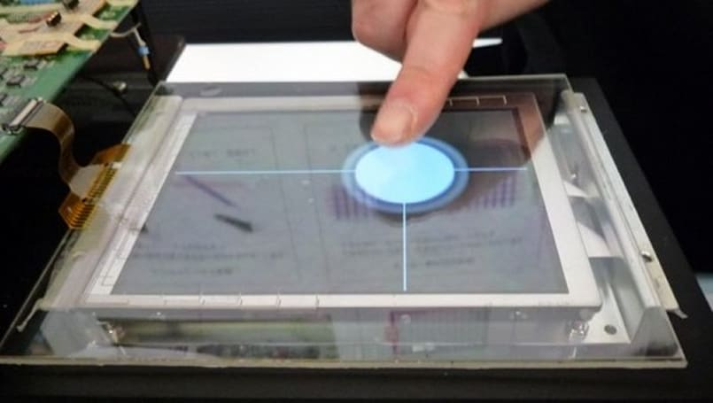 "Mitsubishi shows off ""3D touch panel"" display"
