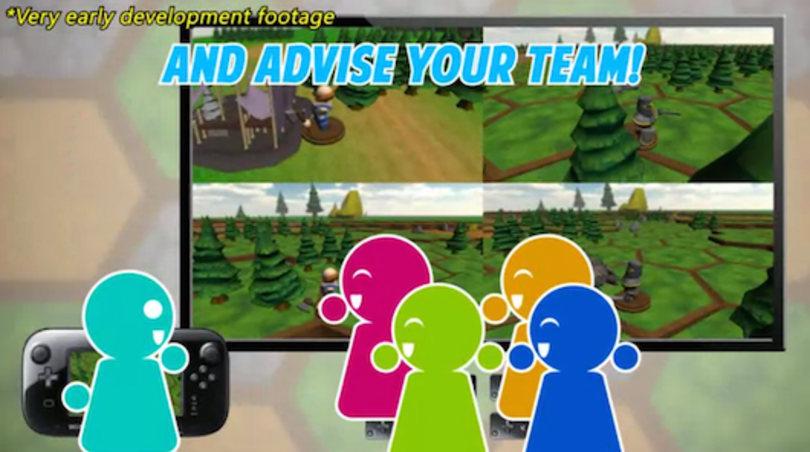 Hex Heroes is a five-player real-time strategy game for Wii U