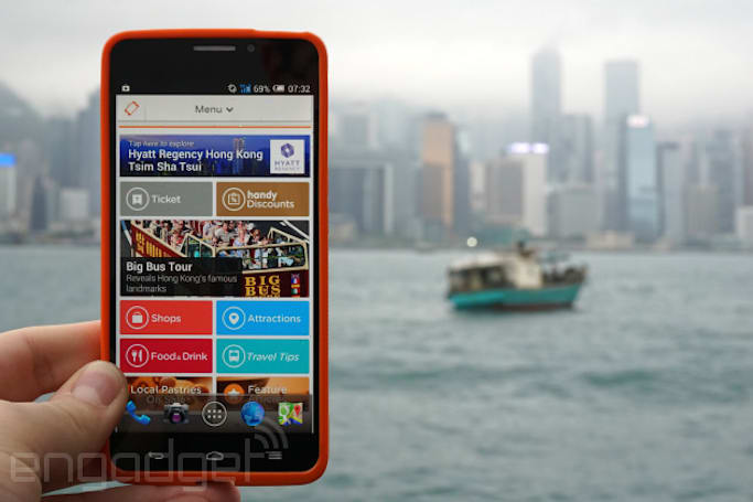 Guests at the Hyatt Regency in Hong Kong can use this smartphone for free