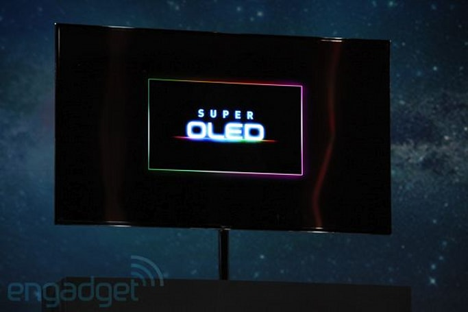 Samsung's got a 55-inch Super OLED TV of its own, coming in the second half of 2012