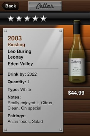 Cellar 2.0 adds handy email hooks to wine manager
