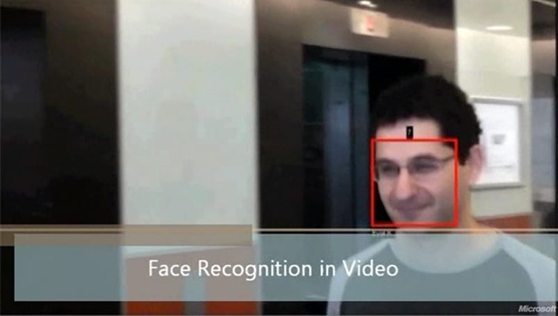 Microsoft's OneVision Video Recognizer can detect, identify, and track your face on video... so smile!