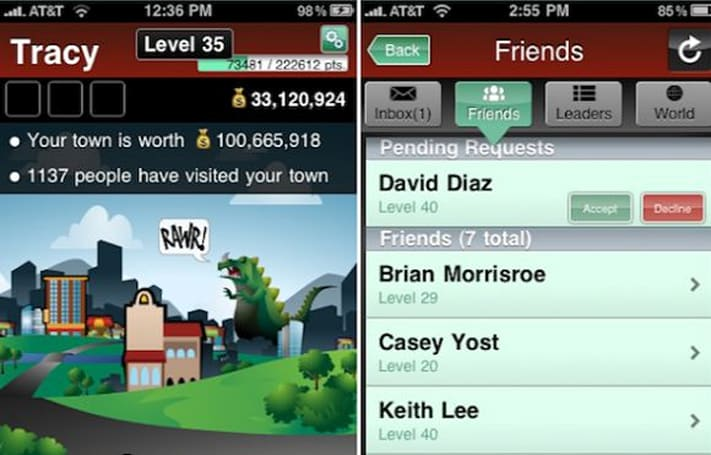 Booyah releases MyTown 3.0, adds friends lists and social features