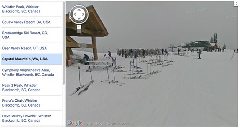Google's Street View hits the slopes again, stops for hot cocoa in Squaw Valley and Whistler (video)