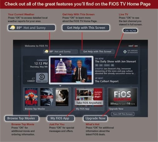 Verizon FiOS TV rolling out new set-top box Home Page