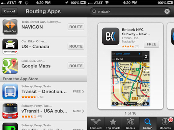 Apple acquires Embark, a transit app it recommended during the iOS Maps disaster