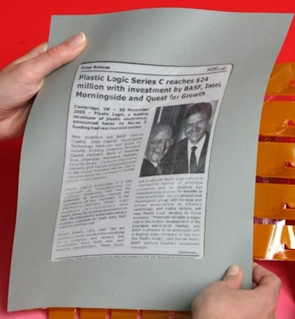 E Ink exec sees e-newspapers going commercial in 2009