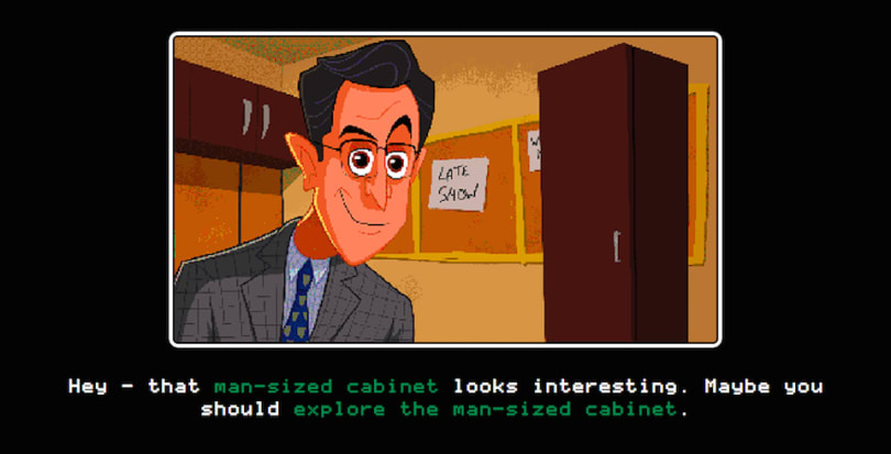 Stephen Colbert dares you to 'Escape From a Man-Sized Cabinet'