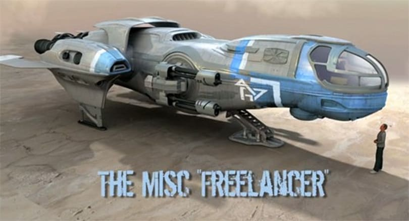 Roberts shows off Star Citizen's Freelancer ship