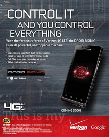 Redesigned Droid Bionic wants to fight you, shows up in leaked Best Buy ad