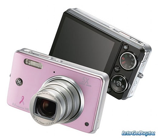 GE rolls out pink and black H855 digital cameras