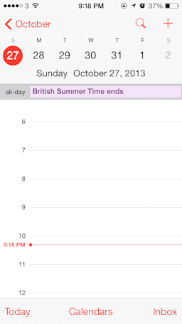 iOS 7 calendar display bug for end of DST hits USA