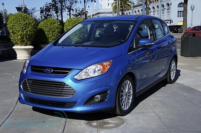 Ford C-MAX Energi plug-in hybrid test drive (video)