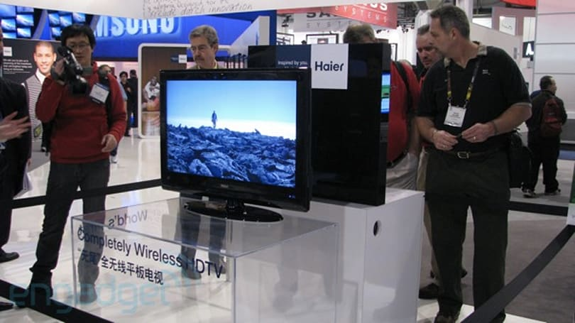 Haier's wireless HDTV lacks wires, svelte profile (video)