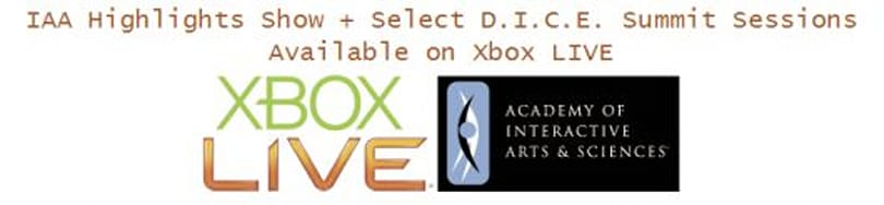 AIAS Awards and DICE sessions now available on Xbox Live