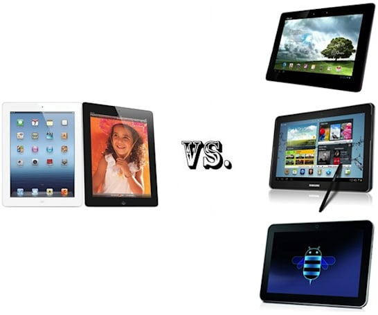 The new iPad vs. the tablet elite: ASUS Transformer Pad Infinity 700, Samsung Galaxy Note 10.1 and Toshiba Excite X10 LE