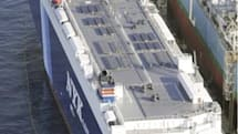 First partially-solar-powered cargo ship launches in Japan