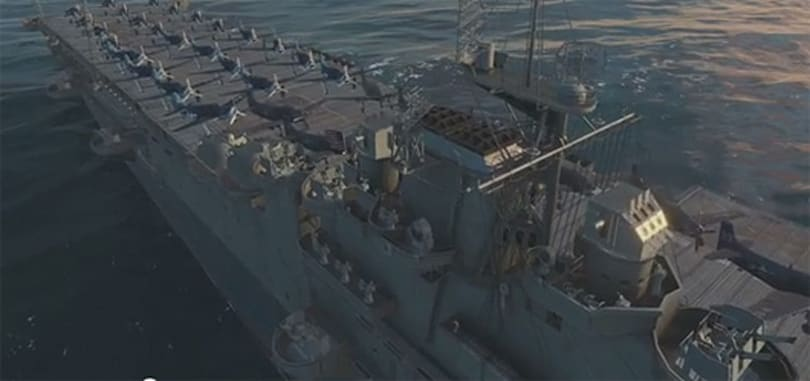 You'll want an aircraft carrier in World of Warships