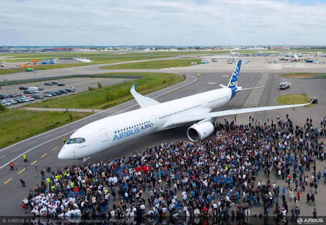 Airbus A350 completes maiden flight, uber-efficient Trent XWB engine shines