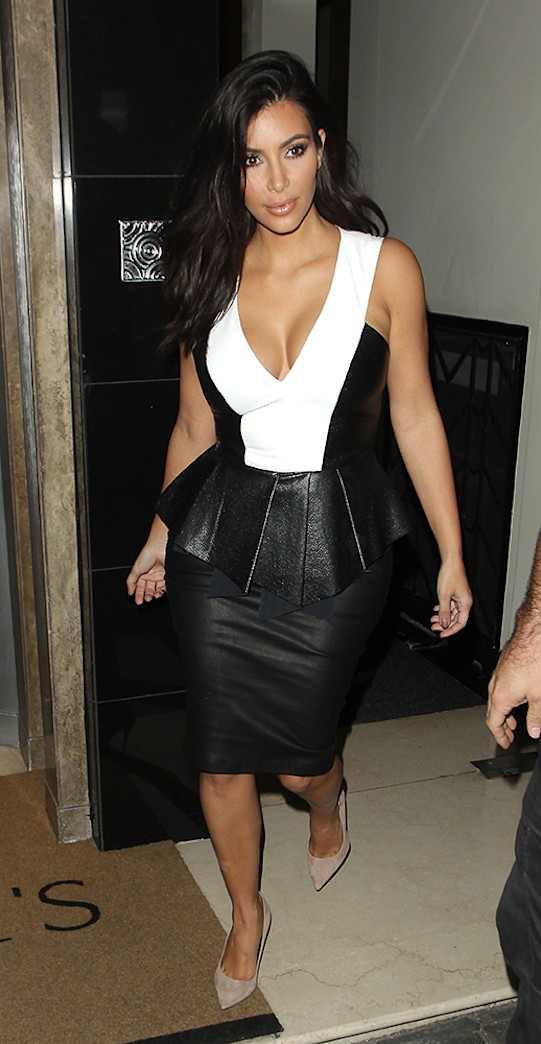 Kim Kardashian's wardrobe malfunction: Butt rips skirt at the seams