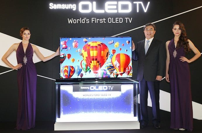 Samsung unveils 55-inch OLED HDTV, really is planning to release it this year