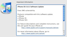 Did we say Saturday? iPhone OS 3.0.1 out now to block SMS exploit