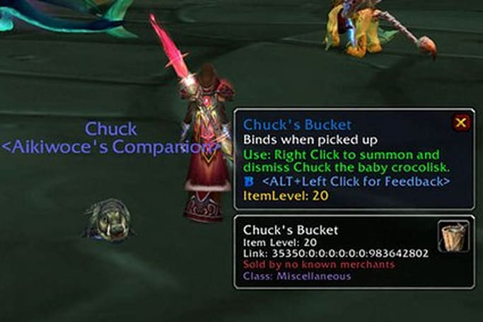 Fishing up Chuck